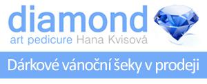 Darujte krásu a zdraví. Dárkový šek z jediného salonu Diamond Art pedikúry v ČR