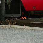 Vlak, kterým jsme přijeli shořel.