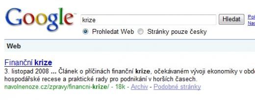 Výsledek vyhledávání na slovo krize z 11. 4. 2009